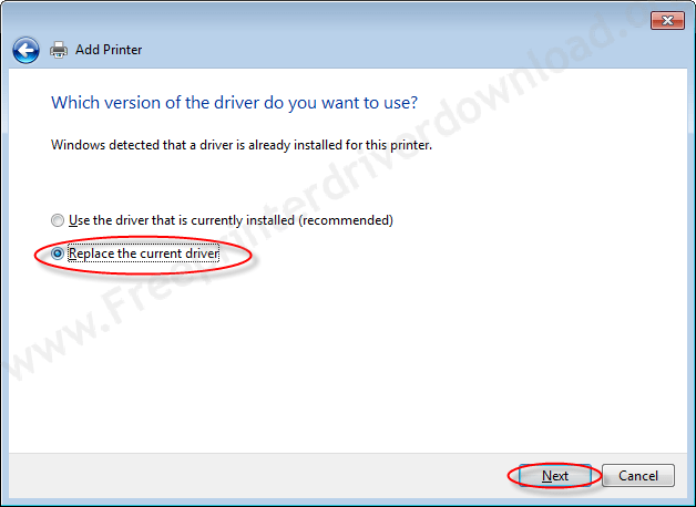 Printer Installation Manually 13 Replace the driver if already installed