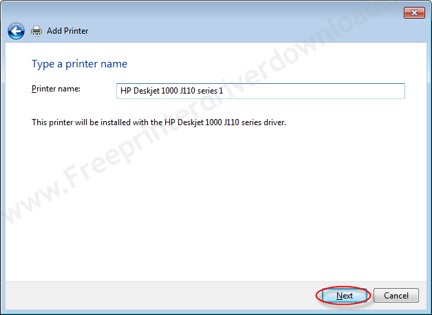 Printer Installation Manually 14 click on next to finally install