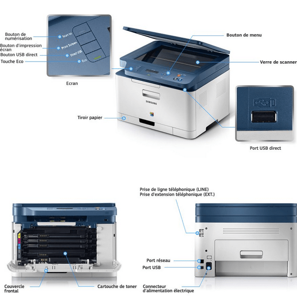 Samsung CLX-3300 Printer Snapshot