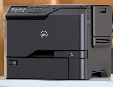 How to get a dell 3100cn network printer working in windows 8 / 10.
