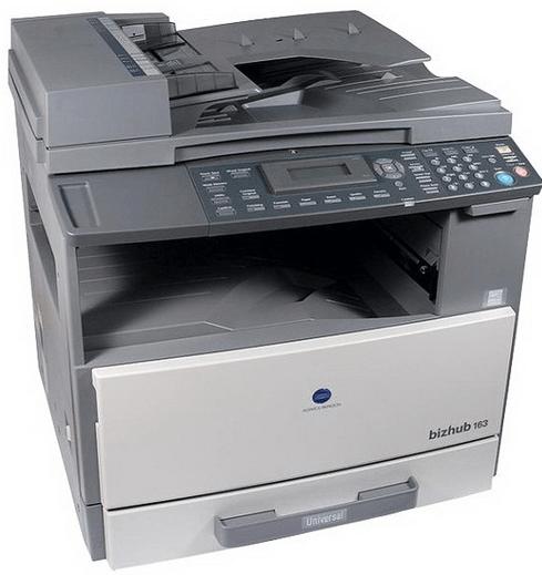 Download bizhub 163 printer driver