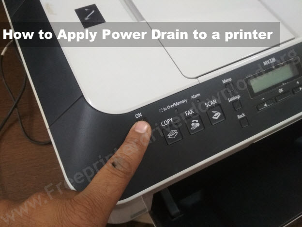 How to power drain a printer