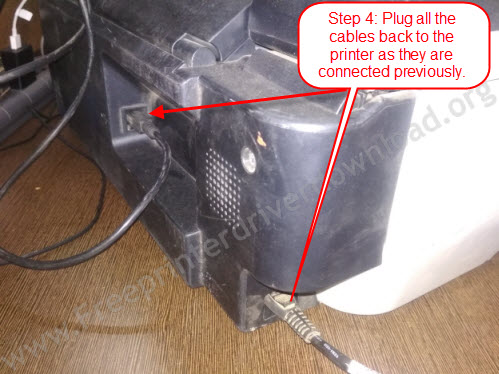 plug all the cables back to complete power drain