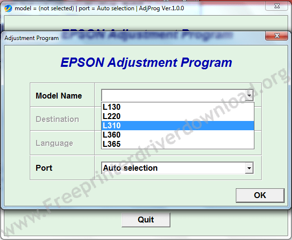 Dr tool epson printer counter reset download