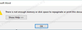 There is not enough memory error