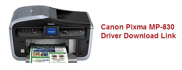 canon Pixma MP 830 printer