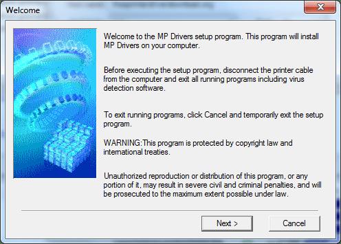 screenshot 1 of canon pixma mp600 installation