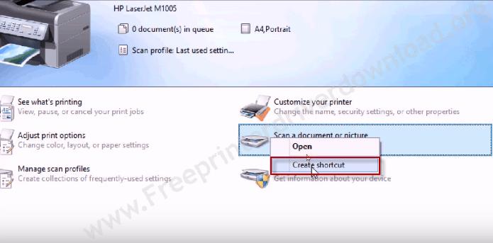 Create scanner Shortcut
