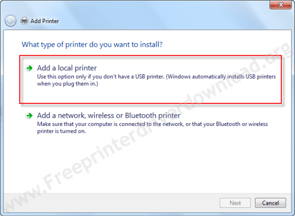 printer driver install through Windows update step3