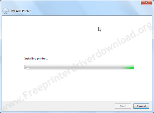 printer driver install through Windows update step9