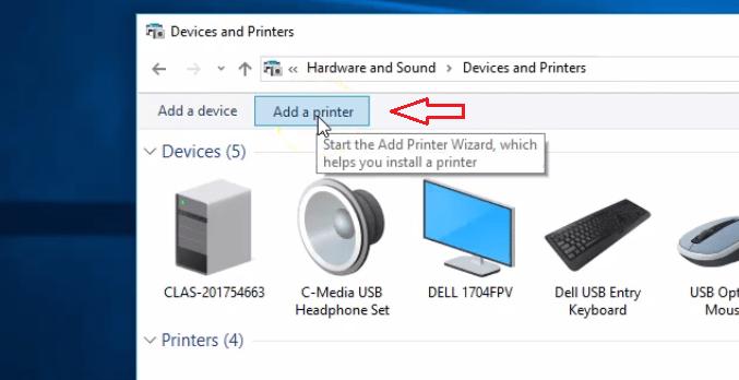 Adding Printer