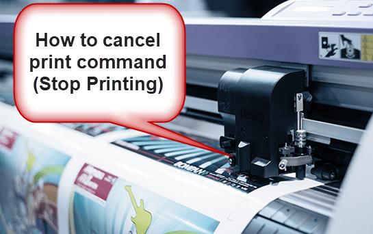 Cancel Print Command