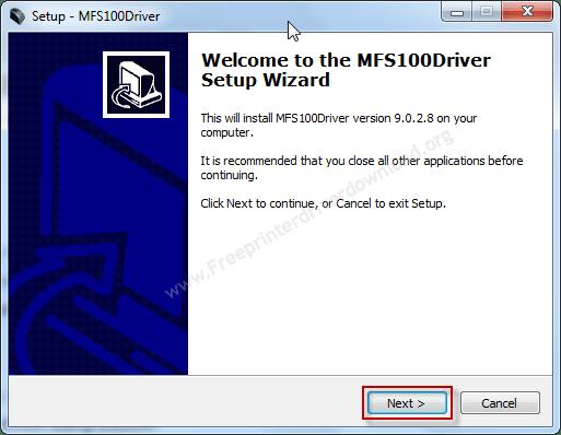 MFS100 driver installation step 1