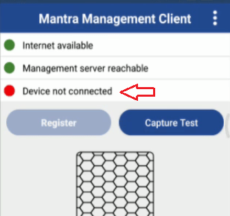 device not connect