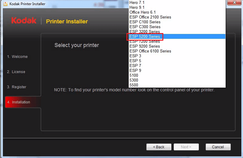 choose printer