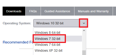 select the OS