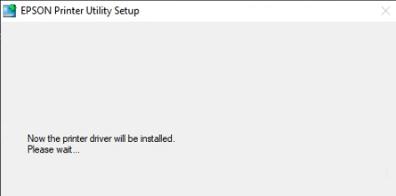 start installing Epson 7710